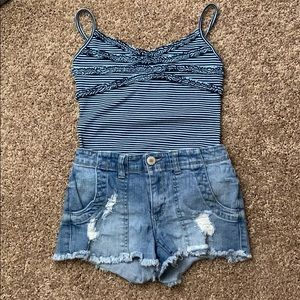 Girls Shorts and Tank Top Outfit